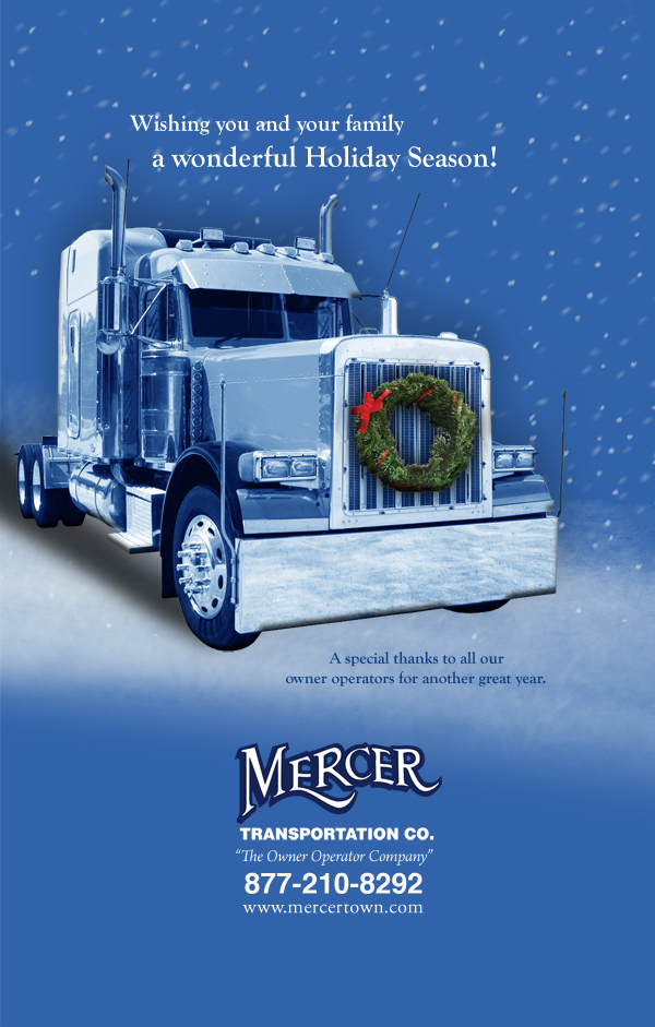 Happy holidays mercer transportation co for Mercer available loads