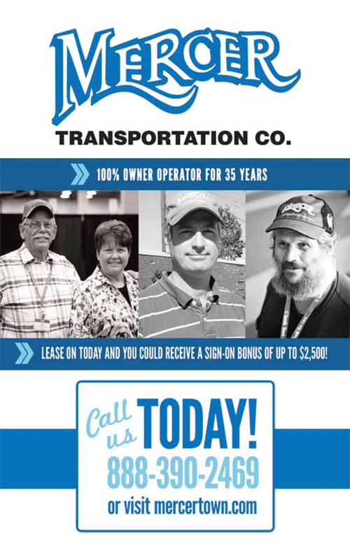 Mercer magazine 39 s first issue mercer transportation co for Mercer available loads
