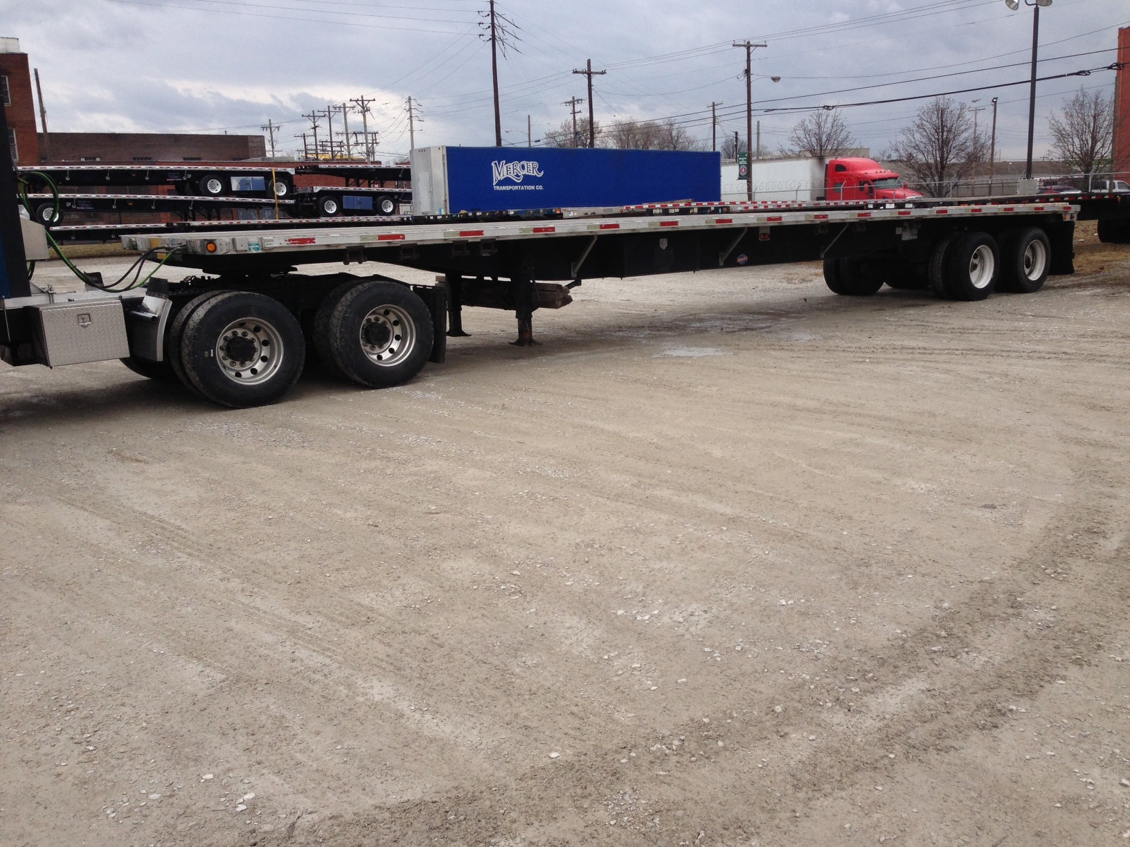 2002 utility flatbed trailer for sale mercer for Mercer available loads