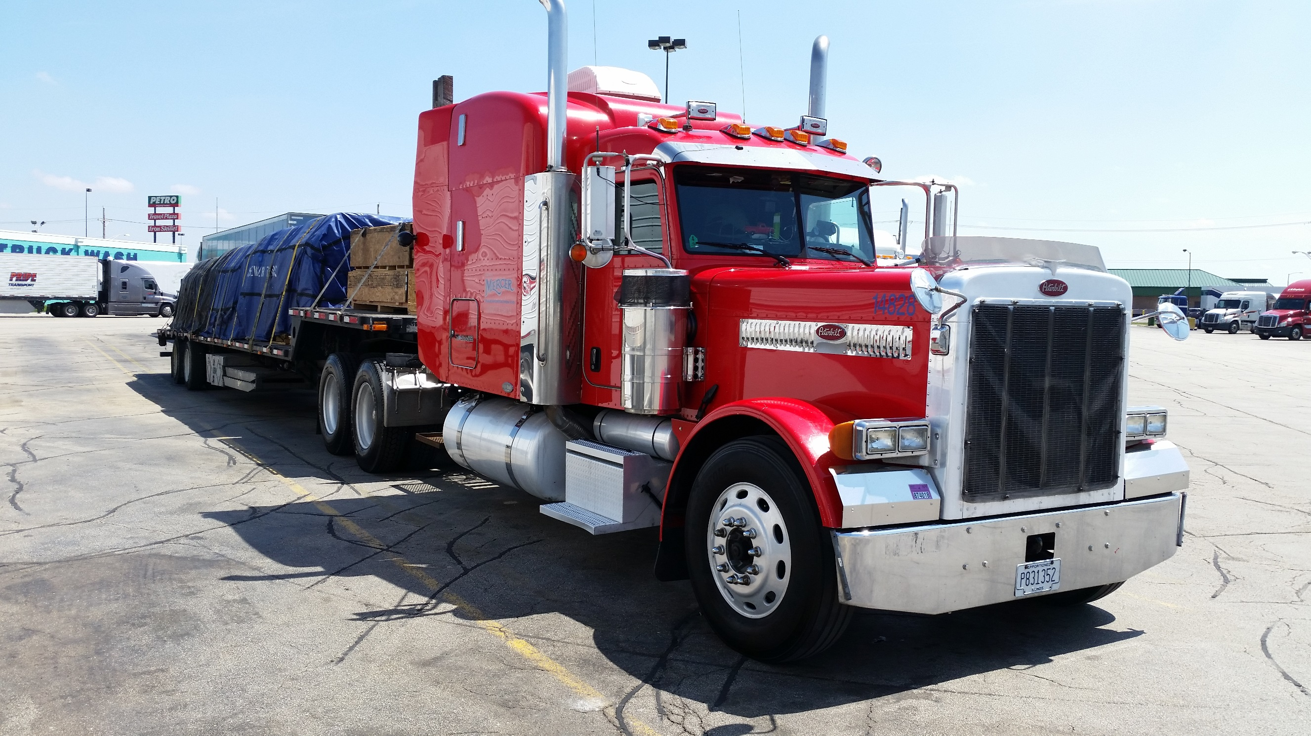 05 Peterbilt And 51ft Stepdeck Trl For Sale Mercer