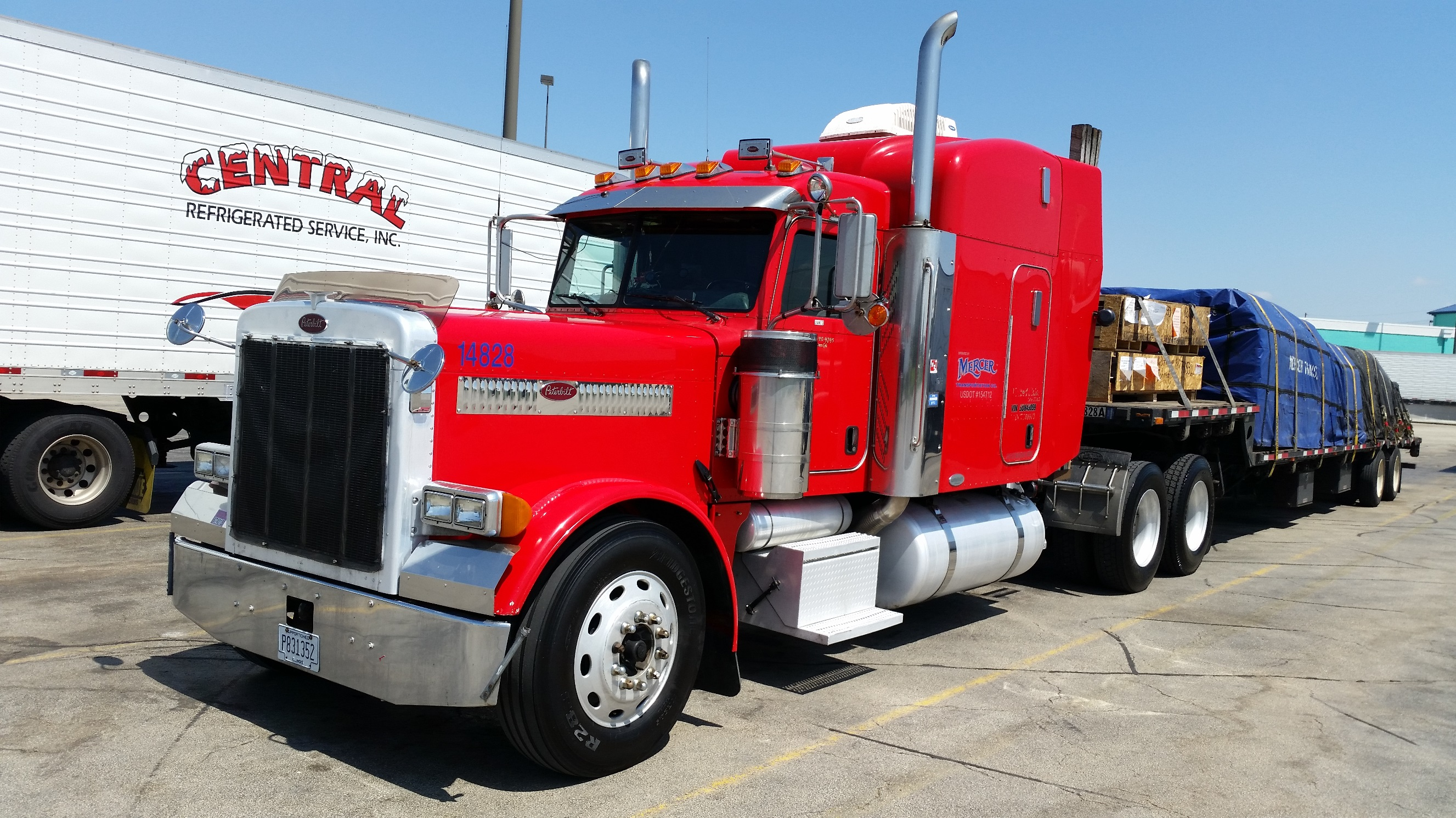 05 peterbilt and 51ft stepdeck trl for sale mercer for Mercer available loads